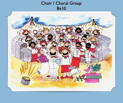 Choir Group - Personalized Cartoon Gift