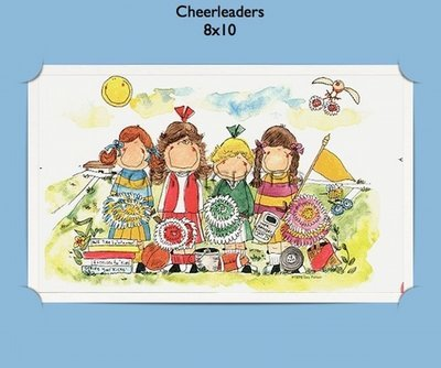 Cheerleaders - Personalized Cartoon Gift