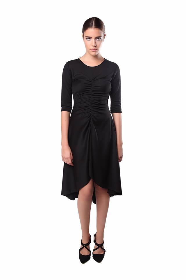 Crna namreskana haljina 0130