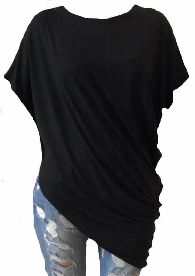 Crna asimetrična tunika 210418