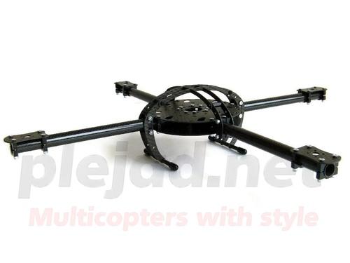 "Quadrocopter Rahmen ""Black Arc CFK"" 48cm"