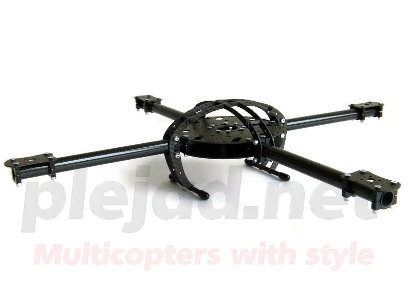 "Quadrocopter Rahmen ""Black Arc CFK"" 48cm"