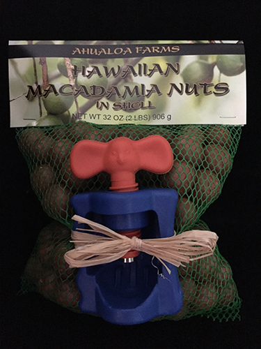 Crack-A-Mac with 2lbs Hawaiian Macadamia Nuts in Shell