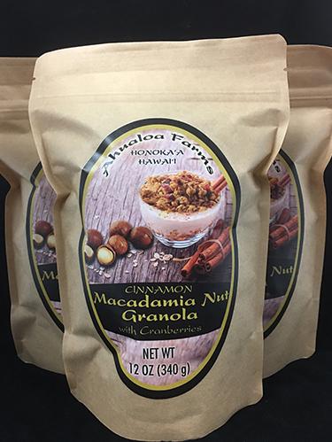 Cinnamon Macadamia Nut Granola with Cranberries 12oz 00185