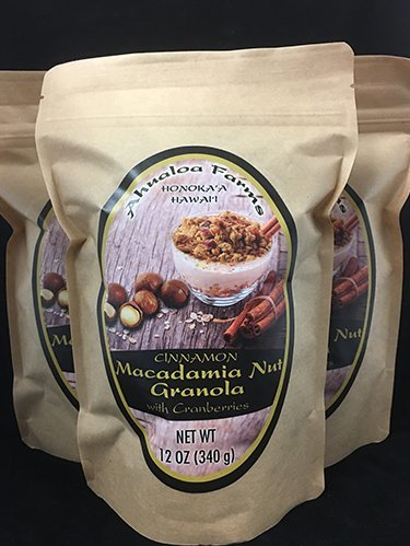 Cinnamon Macadamia Nut Granola with Cranberries 12oz