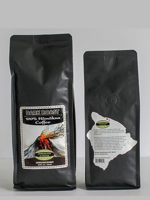 100% Hamakua Dark Roast Coffee Beans