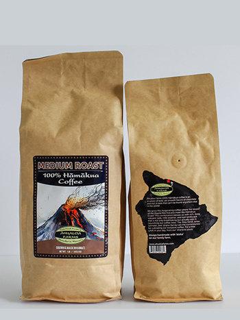 100% Hamakua Coffee Medium Roast Coffee Beans 00015