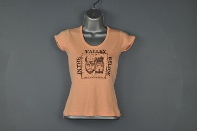 XS Vintage Block Print Repurposed Women's Tee T-Shirt
