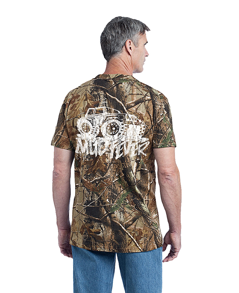 "Mudfever Men's T-Shirt ""Jeep"" (Back)"