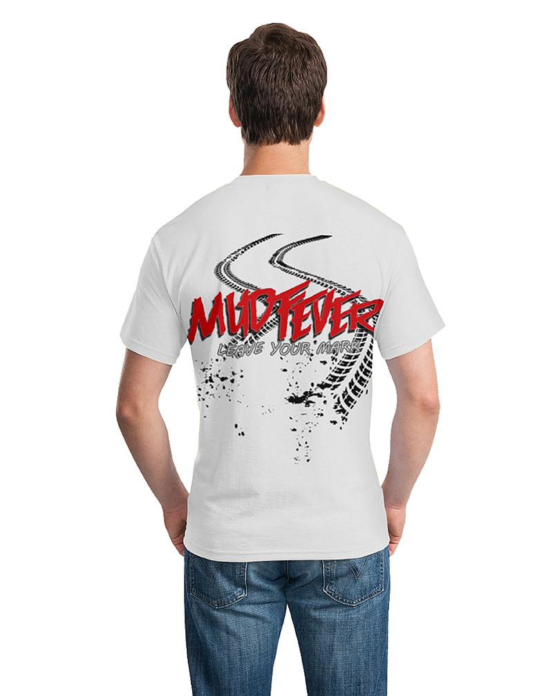 "Mudfever Men's T-Shirt ""Leave Your Mark"" (Back)"
