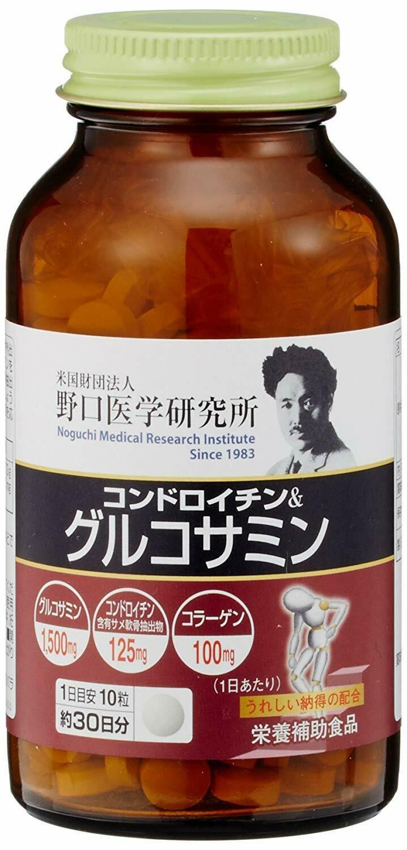 Noguchi Medical Research Institute Glucosamine & Chondroitin 300tab.