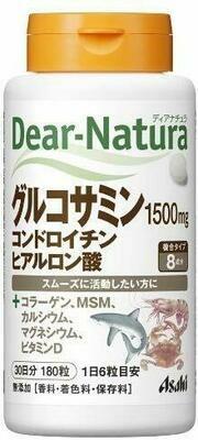 Dear-Natura Glucosamine, Chondroitin, Hyaluronic Acid 30 days 180tab.