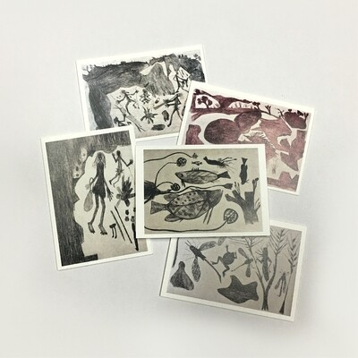 Cards (set of 5) by Graham Rostron