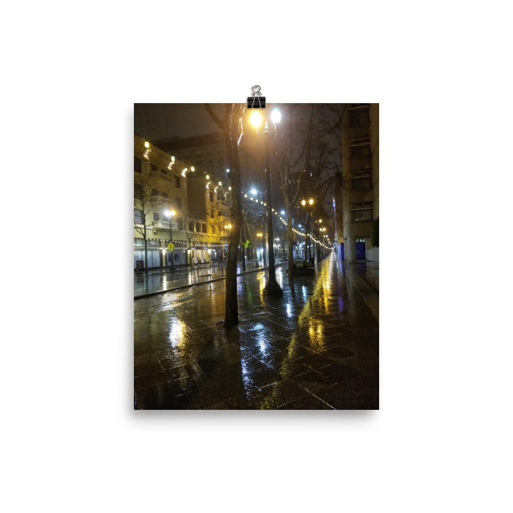 Poster SJ Rain Reflections 2nd Street