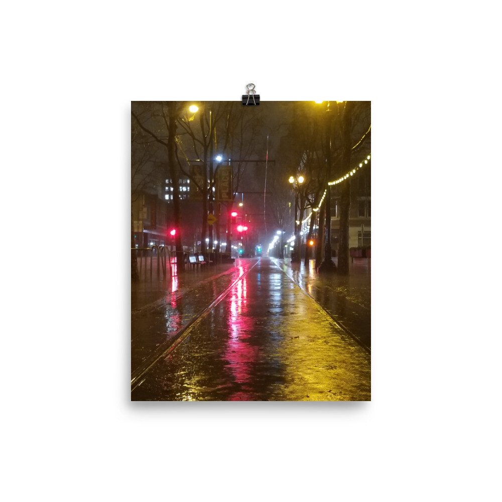 Poster SJ Rain Reflections S 1st Street