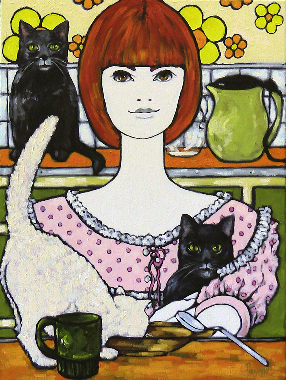 Crazy Cat Lady - Original Artwork Oil on Canvas