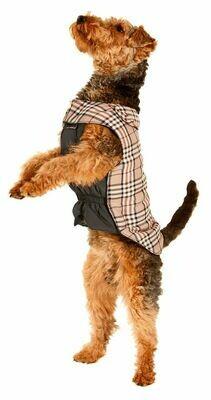 Hundemantel Karo beige English Style