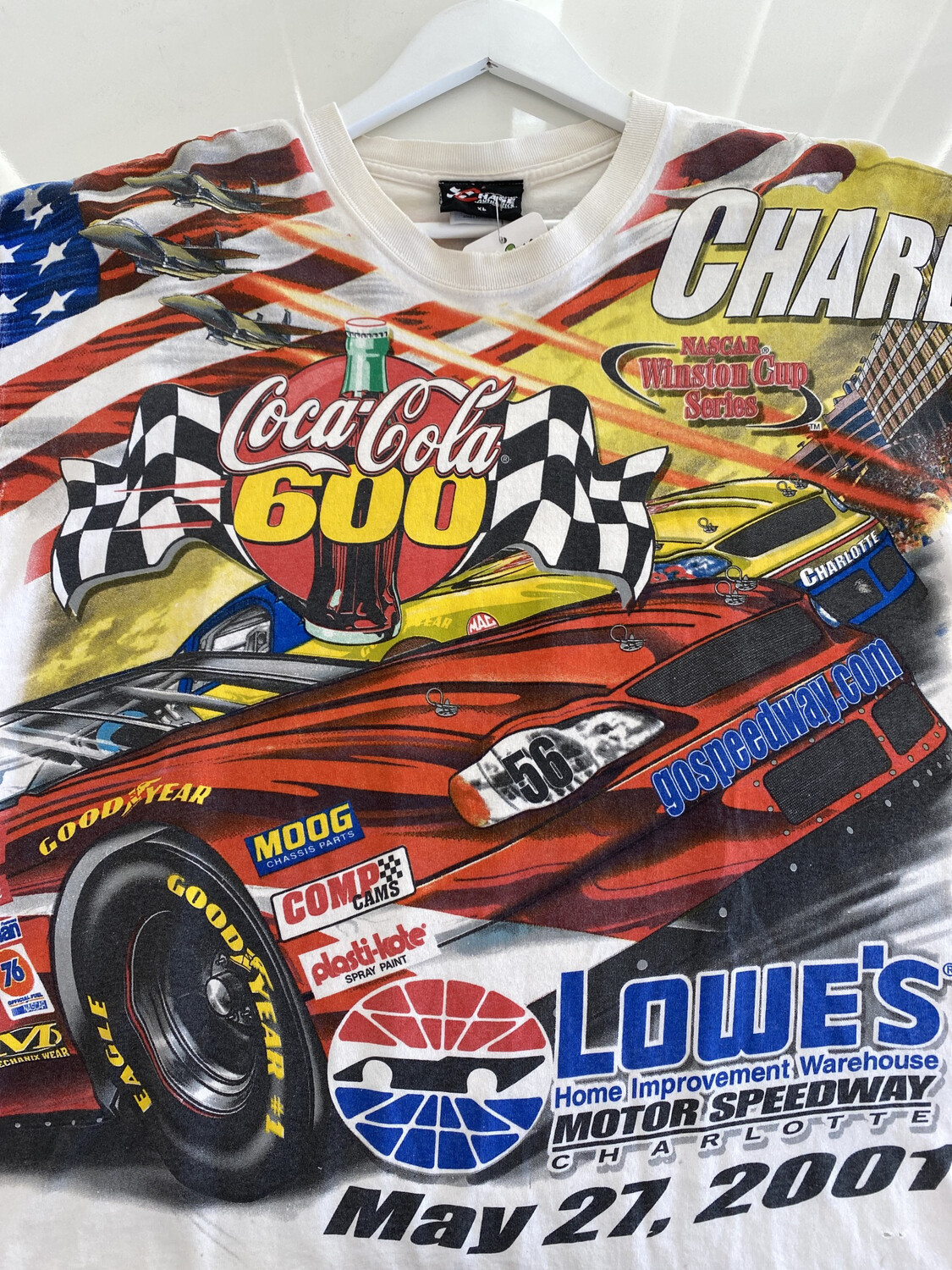 Coca-cola 600 All Over Racing Tee. SIZE: XL