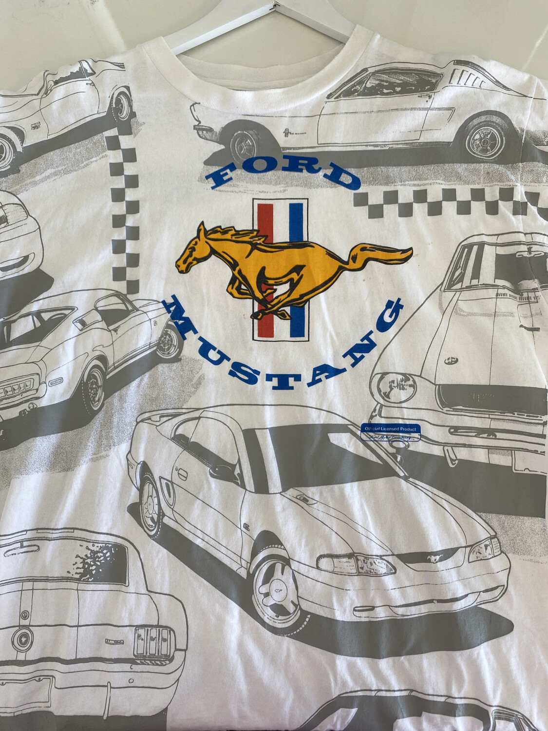 Ford Mustang 90's All Over Tee. SIZE: XL