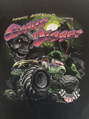90's Grave Digger Tee. SIZE: XL