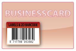 Barcode-etiket, 27 x 40 mm