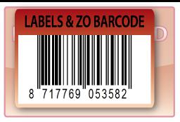 Barcode-etiket, 70 x 49 mm