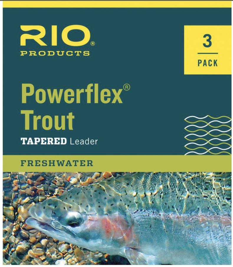 Rio Powerflex 9Ft Leader 3Pk