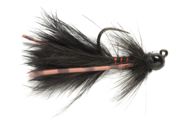 Tungsten Jig Bugger Black Barbless