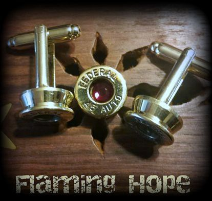 Bullet Casing Base Cuff Links