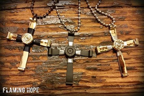 Bullet Casing Cross Necklace