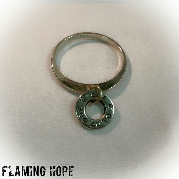 Bullet Casing Sterling Silver Charm Ring