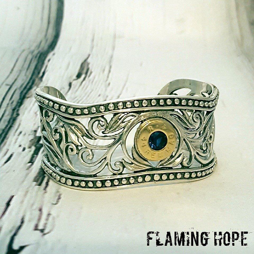 Sterling Silver Western Bullet Bracelet