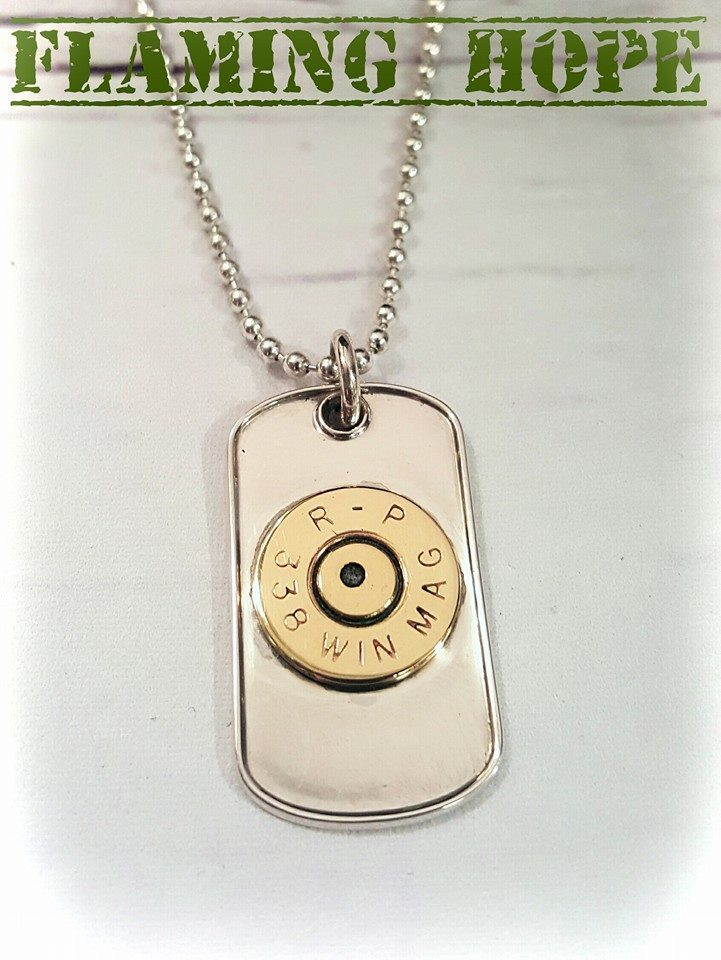 Sterling Silver 2nd amendment Dog Tag