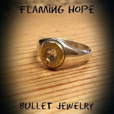 Sterling Silver Bullet Ring