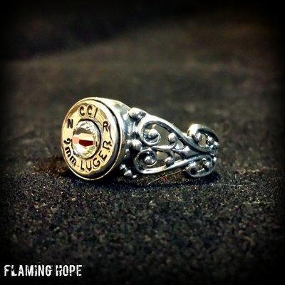 Bullet Casing Sterling Silver Heart Ring