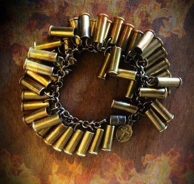 22 CAL Bullet Charm Bracelet