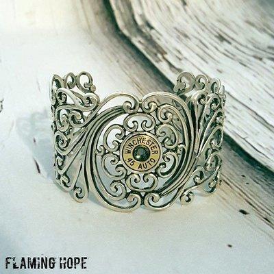 Sterling Silver Filigree Bullet Bracelet