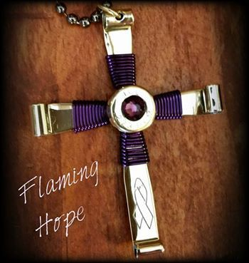 Awareness Bullet Cross Necklace