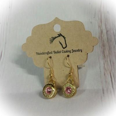 Bullet Casing Base Earrings