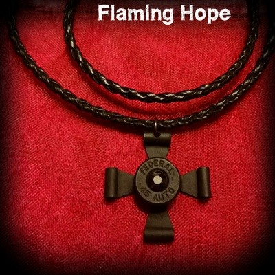 Bullet Casing Maltese Cross Necklace