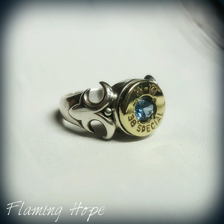 Bullet Casing Sterling Silver Fleur De Lis Ring