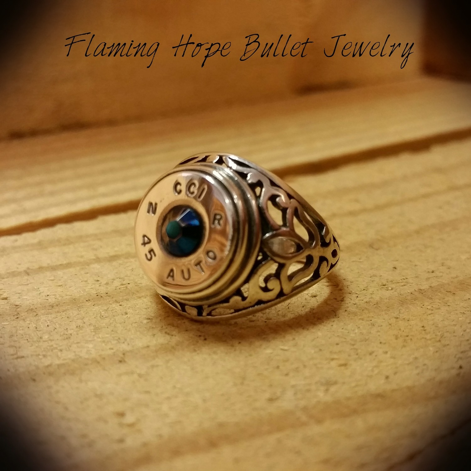 Bullet Casing Sterling Silver Filigree Ring