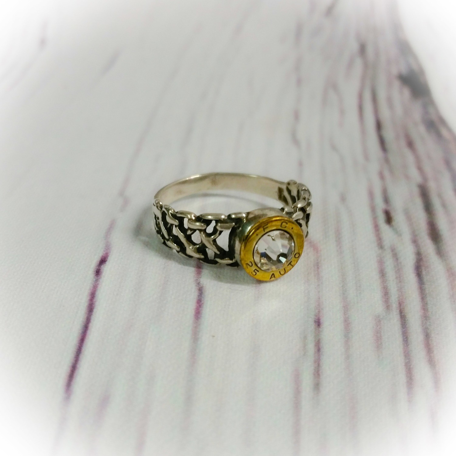 Sterling Silver Celtic Bullet  Ring