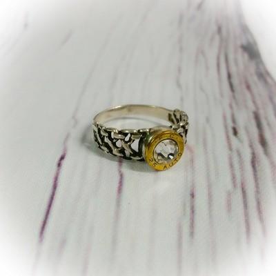 Sterling Silver Celtic Bullet  Ring
