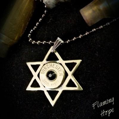 Bullet Casing Star of David Necklace