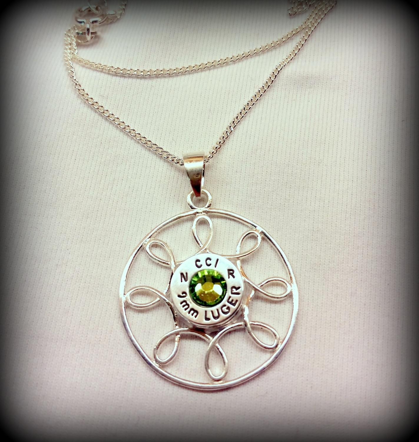 Sterling Silver Celtic Circle Pendant and Chain