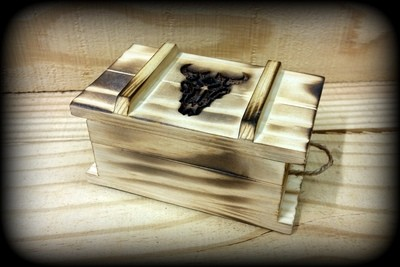 Flames & Ammo Jewelry Box