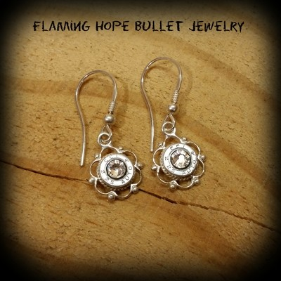 Sterling Silver Celtic Circle Earrings