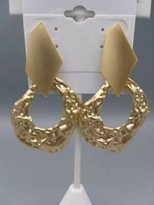 H Beaten earrings