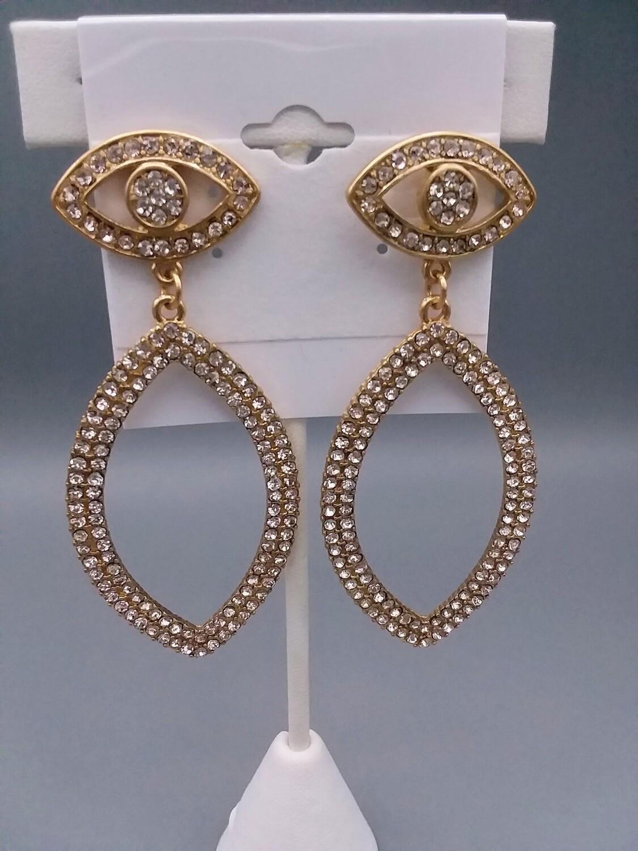 Eye Rhinestone Earrings